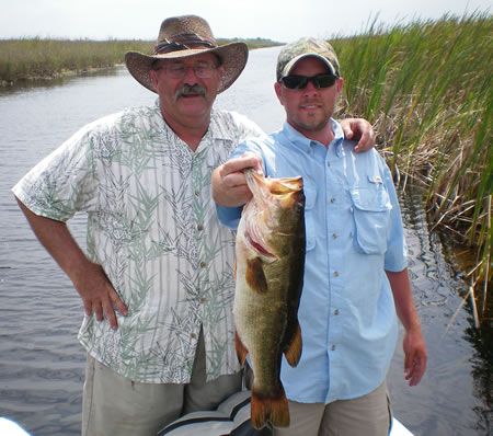 Evverglade bass fishing