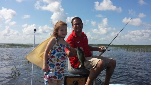 Sofia and dad Haque making fishing dreams