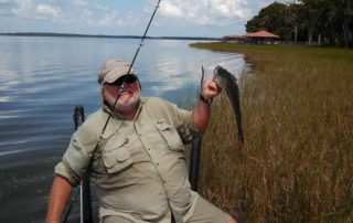 Ronnie from JB Fish Camp out Fishing