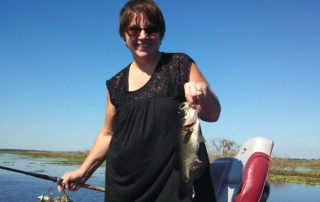 First Time Laura had ever Caught a Fish