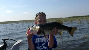 Kaiden Big Bass on Okeechobee