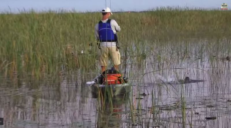Florida Kayak Bassin with Capt Mark on Lake Okeechobee