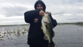 Great fishing in the rain on Lake Istokpoga