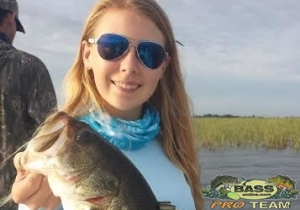 Cheyenne having caught 16 of the Bass Herself