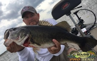 Bass Fishing Speed Worm Bite Is On