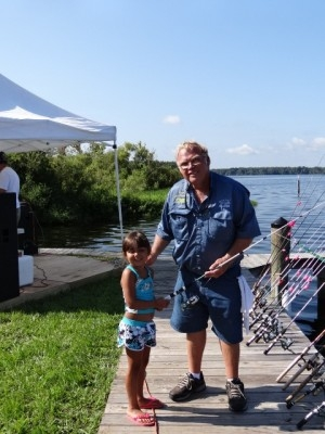 Bull Creek fishing tourny participant with Capt Steve Niemoeller