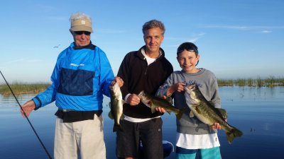 Three Generations Largemouth Bass Fishing Belle Glade